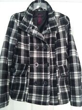 New Look Brand Coat Houndstooth Black and White Jacket Women's Size S