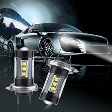 2 Bombillas Lamparas Coche Moto H7 LED 12V Luz Blanca Tipo MRC 80W 6000K