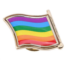 Rainbow Flag Lapel Metal Pin Badge Lesbian Gay Diversity Pride Symbol N7