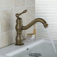 Bathroom Antique Brass Sink Basin Faucet Mixer Tap Vanity 1 Hole Deck Mounted