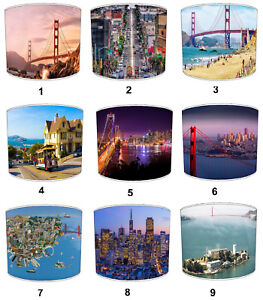 San Francisco City Lampshades Ideal to Match San Francisco Wall Decals & Sticker
