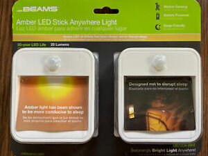 Mr. Beams Stick Anywhere Battery Powered Amber LED Night Light Motion Detecting