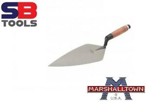 "Marshalltown M34105L 10.5"" Wide London Pattern Brick Trowel LEATHER  Handle 34L"
