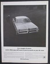 1967 Pontiac Catalina Wide-Trac Original Black and White Print Ad