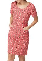 New Ex White Stuff Cherry Red Marianne Swimmer Pretty Dress Was £55 Now £25