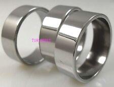 12pcs Silver Men's Simple Plain Stainless Steel Rings Wholesale Jewelry Job Lots