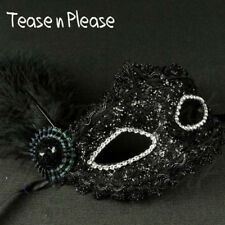 Seductive Black Lace With Side Feather Mask Tease N Please. Fantasy, Masquerade