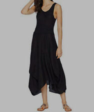 New $190 Hard Tail Womens Black Scoop-Neck Sleeveless Casual Maxi Dress Size S