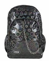 CHOK HOLO GREY 3D REFLECTIVE BACKPACK RUCKSACK Unisex School College Bag