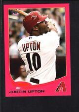 JUSTIN UPTON 2013 TOPPS MINI #110 PINK PARALLEL DIAMONDBACKS SP #08/25
