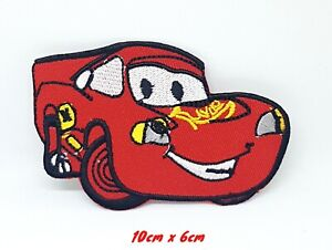 Lightning McQueen cartoon movie Embroidered Iron or Sew on Patch #1075