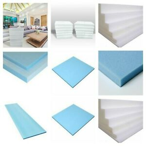 "60"" x 20"" High Density Upholstery Foam Sheet Thickness ½"" 1"" 2"" 3"" 4"" 5"" 6"" UK"
