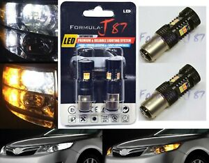 LED Switchback Light 3030 White Amber 1157 Two Bulbs Front Turn Signal DRL Fit