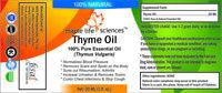 Thyme Essential Oil 100% Pure Natural Thymus Vulgaris Rheumatism Arthritis