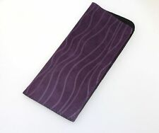 Elegant Reading Glasses Carry in Pocket Bag Soft Pouch Purple Protective Case