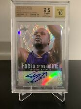 2012-13 Shaquile O'Neal Leaf Metal Faces of the Game Holo Auto /50 BGS 9.5/10