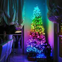 LED RGB Christmas Tree Decor Fairy String Lights Bluetooth Smart APP Control New