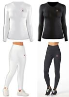 Women's Compression Top & Tight Ladies Gym Yoga Running Skin Dri-Fit Shirt Pant