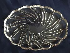 Mikasa Clear Oval Peppermint Sweet Meat Dish Tray