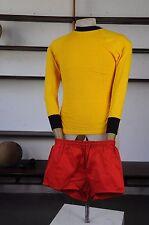 Pantaloni Rosso 42 d4 XS Sprinter Uomo Sport Pantaloni 80er True Vintage 80s RED SHORT