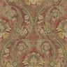 Victorian Damask Wallpaper Arts Crafts Burgundy Gold Bronze Perfect Double Roll