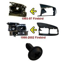 1993-2002 Firebird Formula Trans Am Headlight SHROUD mounting screw set BLACK GM