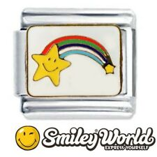 RAINBOW STAR SMILEY FACE Daisy Charm Fits Nomination Classic Size Italian Charm