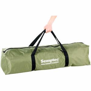 Zeltbett: 4in1-Zelt mit Feldbett, Sommer-Schlafsack und Matratze (Zeltliege)