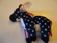 TY BEANIE BABIES - LEFTY 2000 - THE DONKEY - MWMTs - AUTHENTIC