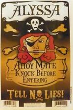 ALYSSA Pirate Privacy Door Sign/Ahoy Mate/Knock Before Entering/Tell No Lies!