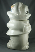 Vtg 40s Turnabout 2 Sided Cookie Jar 4 in 1 Bisque Mouse Bear Girl Boy White