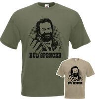 T-shirt BUD SPENCER banana joe cult film cotone verdone militare o sabbia unisex