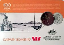 2016 • 100 Years of ANZAC 20c Series II • Darwin Bombing • Unc in Card