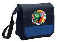 World Cup Fan Lunch Bag Soccer Lunchbox Cooler ADJ SHOULDER STRAP