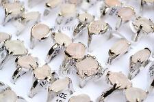 FREE Wholesale lots 10Pcs Pink Rose Amethyst Gemstone Silver P Rings Jewerly