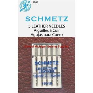 Schmetz Leather Needles Size 18 Fits Singer Models 15, 27, 28, 66, 99, 201, 221