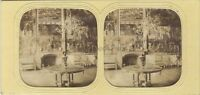 Interno Un Palais Parigi Foto Stereo Diorama Vintage Albumina c1865
