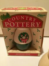 Vintage NEW 90s' Glade Country Pottery Air Freshener Holiday Pine Fragrance +1