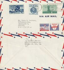 US 1959 COMMERCIAL FLOWN COVER CHICAGO ILL TO HERNING DENMARK