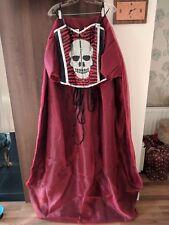 Red And Black Skull Goth Emo Alternative Corset Prom Dress Size 8 handmade