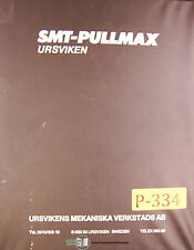 Pullmax Refricon HPU 81, EKP Press Control, Instruct Programming & Parts Manual