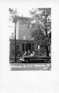H75/ Orange Virginia RPPC Postcard c1950s County Court House 233