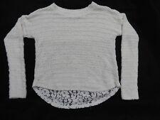 Abercrombie Kids - Girls Sweater - S/10 - White - Lace Back - EUC