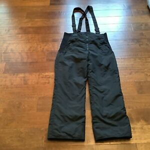 Vintage Columbia Black Men's Ski Suspender Bib Snow Pants Sz Large