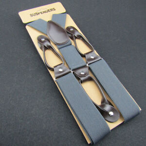 Vintage Men's Suspenders For Trousers Men Button Braces Y-Back Shape Suspender