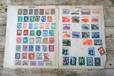 Bulgaria stamps on 9 pages maily used