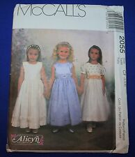 McCalls 2055 Children and Girls Special Occasion Dresses, Sizes 4, 5, 6, Uncut