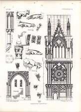 Gothic Oppenheim Baia di Navata Western PORTA dettagli LANTERNA dei morti