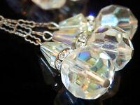 Extremely Beautiful Vintage 50s Deco Crystal Rinestone Earrings 1464n4