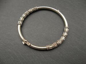 Bracelet jonc ethnique Argent massif